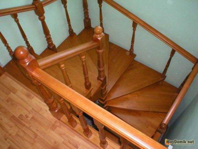 Деревянная винтовая лестница фото своими руками